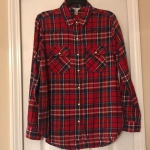 Forever 21 plaid button down shirt size M
